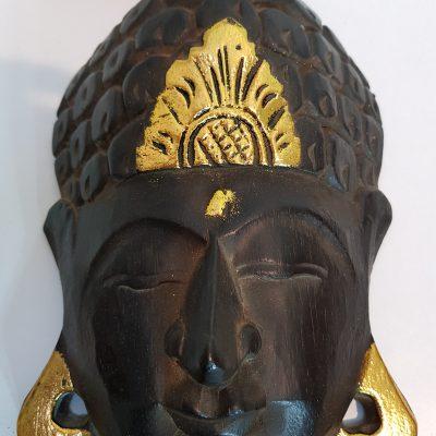 Buddha face mask Bali wood carved 30cm