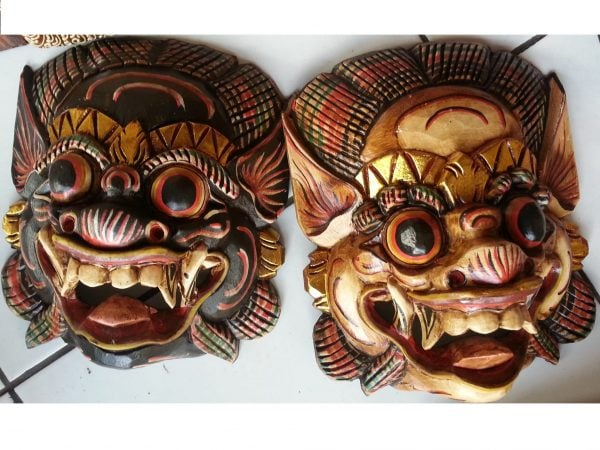 Barong mask wall art hanging Bali Balinese Tropical Scene Adelaide Australia
