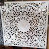 wall hanging mandala art carving wood white wash Bali Balinese Tropical Scene Adelaide Australia 100cm