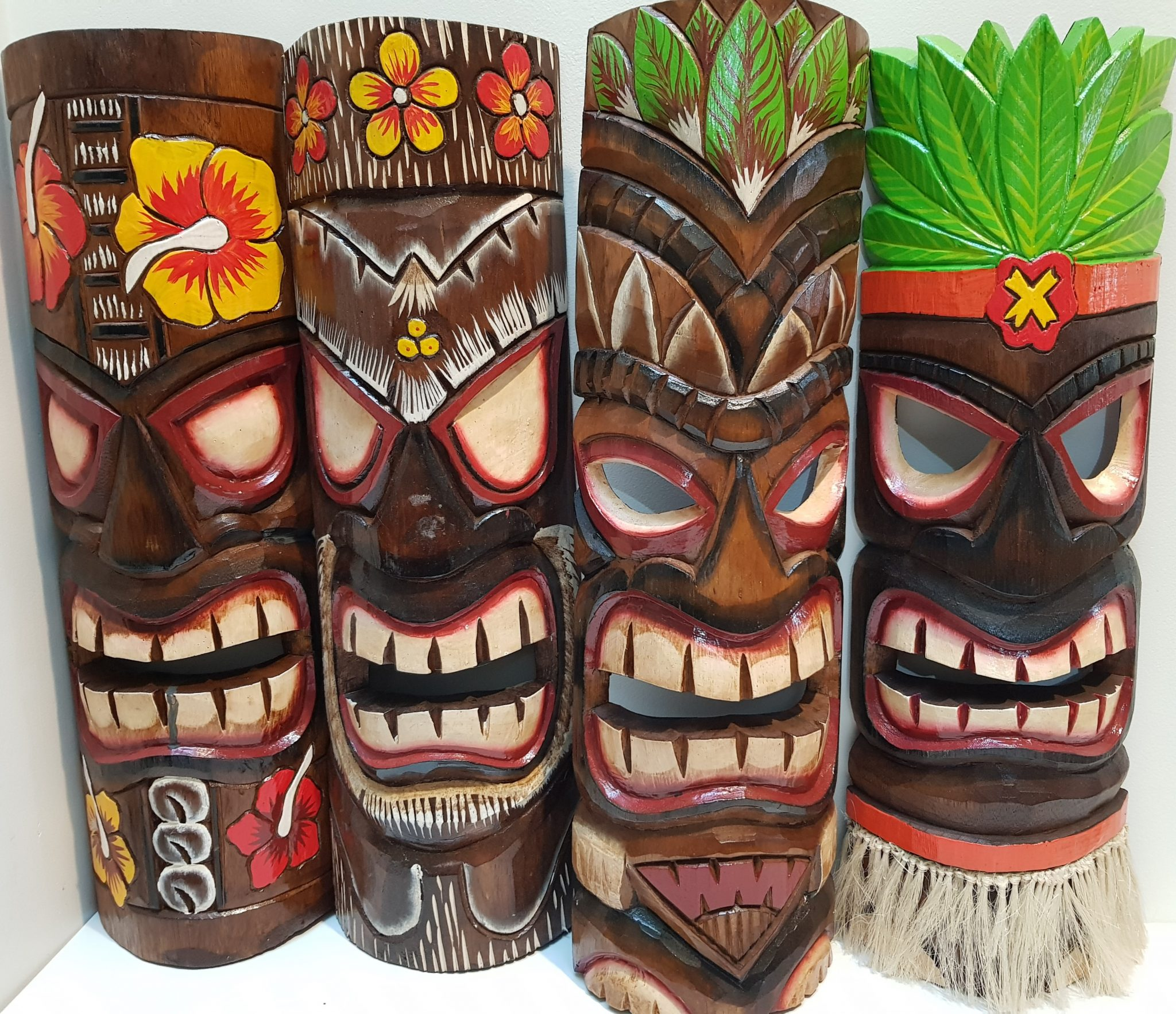 Tiki bar masks