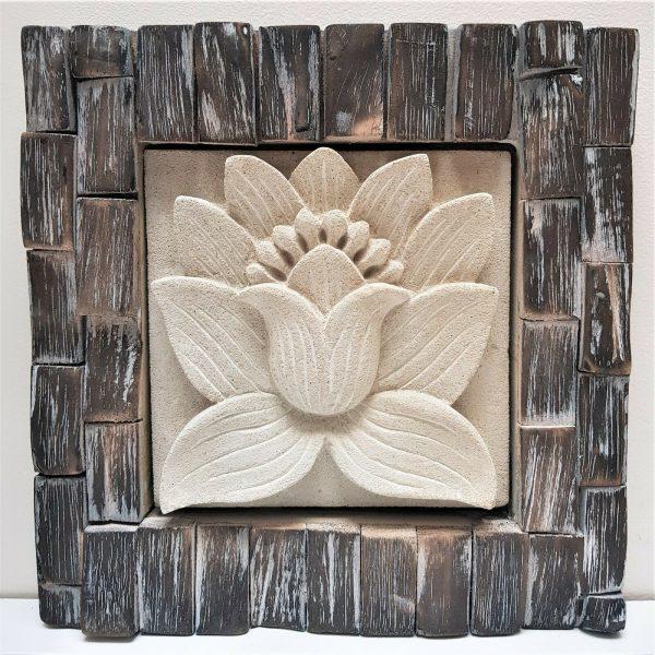 Bali Wall art stone wood carving